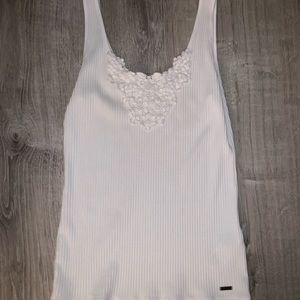 Hollister Tank Top with Lace Embroidery